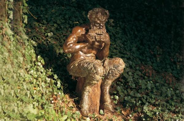 Satyre Pan Bronze Skulptur