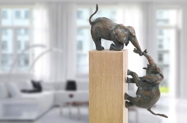 Bronze Elefanten Skulpturen Gruppe