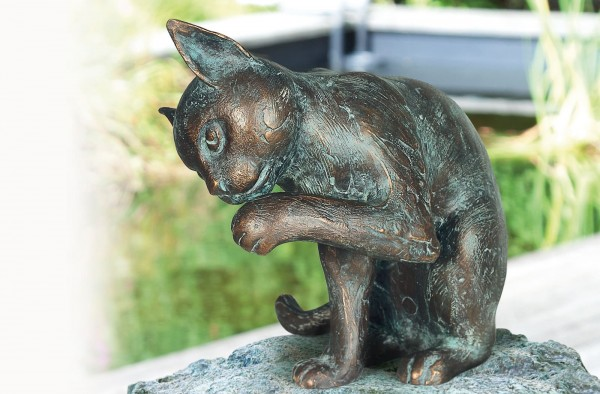 Katze Bronze Skulptur