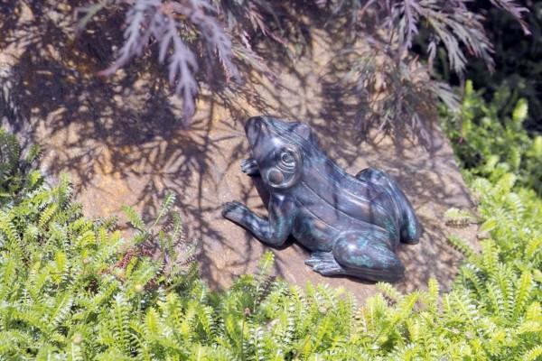 Sitzender Frosch Bronze Skulptur