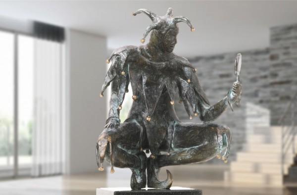 Till Euelenspiegel Bronze Skulptur E. Waehning