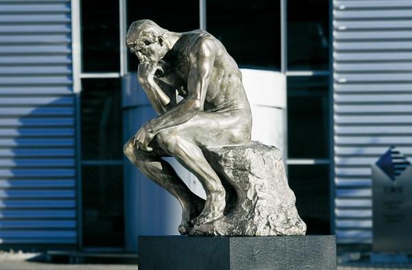 Der Denker Bronze Skulptur A. Rodin original Groeße