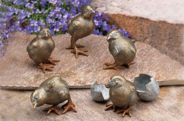 Kueken Bronze Skulpturen Gruppe