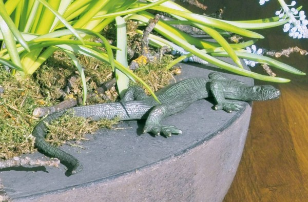 Eidechse Bronze Skulptur