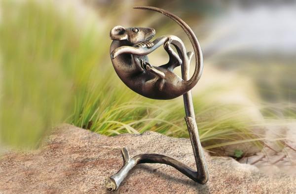 Maus auf Zweig Bronze Skulptur