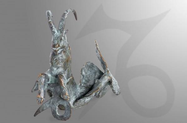 Skulptur Sternkreiszeichen Steinbock