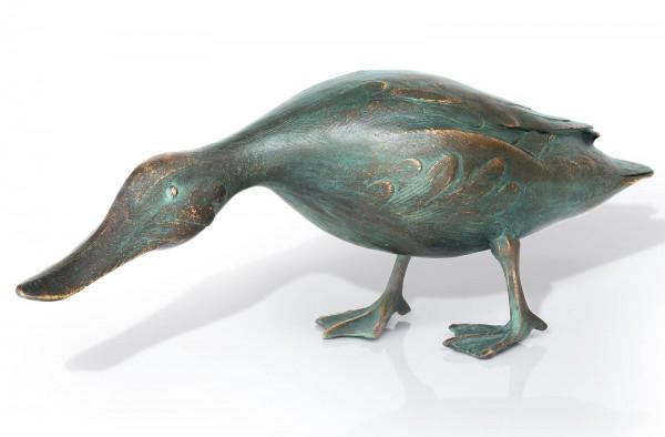 Stockente mit gesnktem Kopf Bronze Skulptur