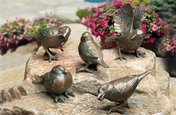 Spatzengruppe Bronze Skulpturen