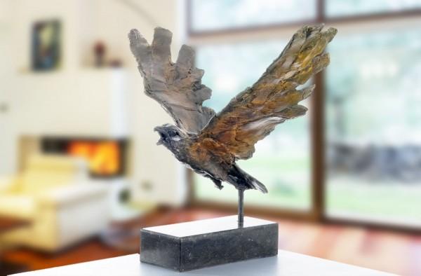 Adler Bronze Skulptur R. Zweypfenning