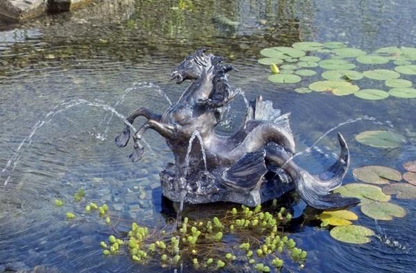 Meerpferd Bronze Skulptur G. Debrie