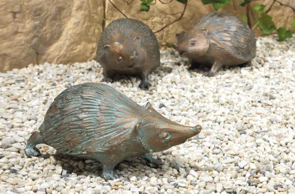 Der Igel, Bronze-Skulptur.