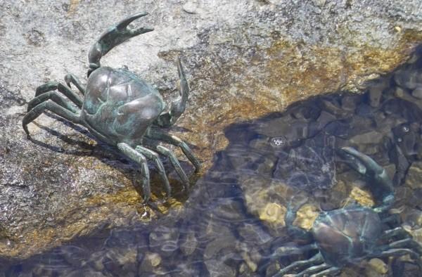 eiblicher Krebs Bronze Skulptur