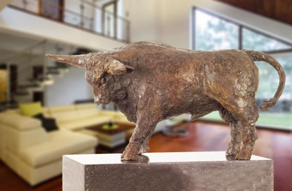 Stier Bronze Skulptur R. Zweypfenning