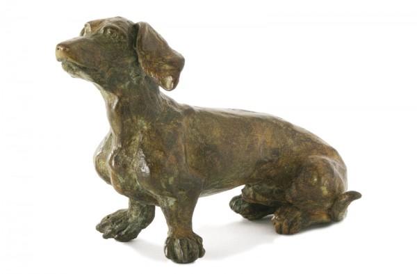 Dackel Bronze Skulptur V. de Voogt