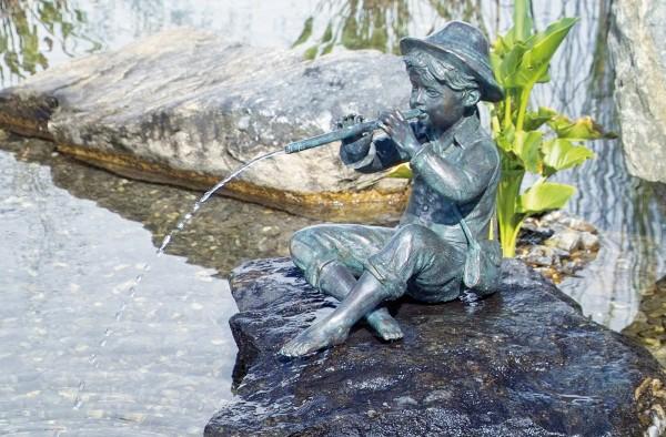 Hirtenjunge-Wasserspeier-Bronze-Skulptur