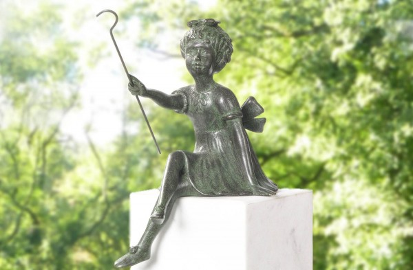 Gluecksfee Bronze Skulptur