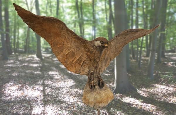 Skulptur Falke Bronze