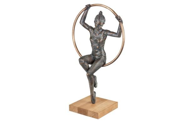 Al Cerchio Bronze Skulptur von Damiano Taurino
