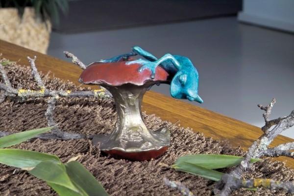 Der Abenteurer, Frosch NewStyle, Bronze-Skulptur.