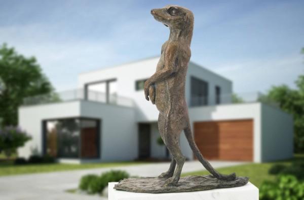 Erdmaennchen Bronze Skulptur V. de Voogt