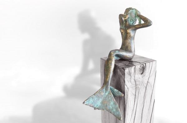 Die kleine Meerjungfrau Bronze Skulptur