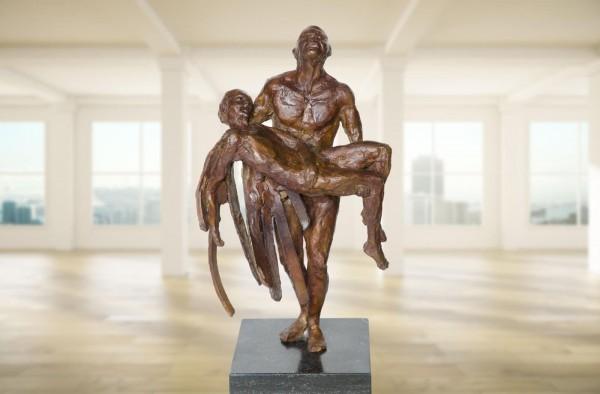 Ikarus und Daedalus Bronze Skulptur R.Zweypfenning