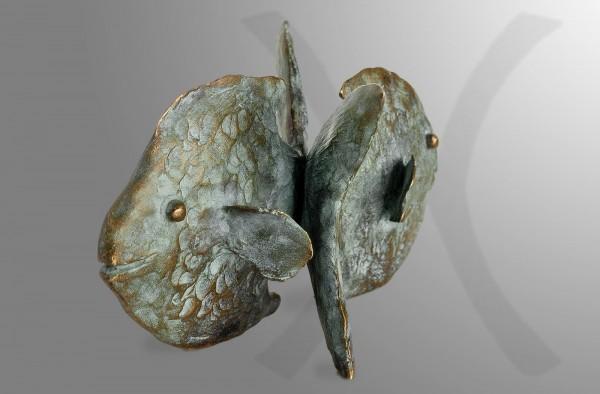 Sternkreiszeichen-Skulptur-Fische von E. Waehning