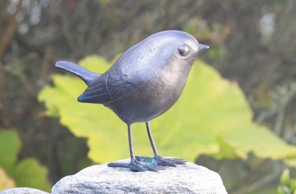 Rotkehlchen Kupfer Skulptur