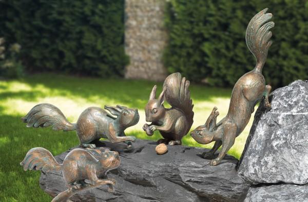 Eichhoernchen Bronze Skulpturen