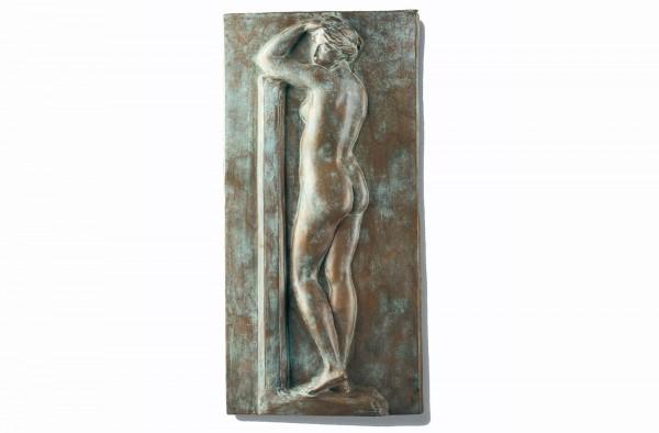Akt, Rückenakt, Wandrelief von Johann, Gottfried Schadow, Bronze-Museumsreproduktion.