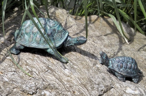 Schildkroeten Bronze Skulpturen