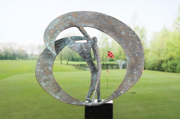 The drive Golfer Skulptur Bronze