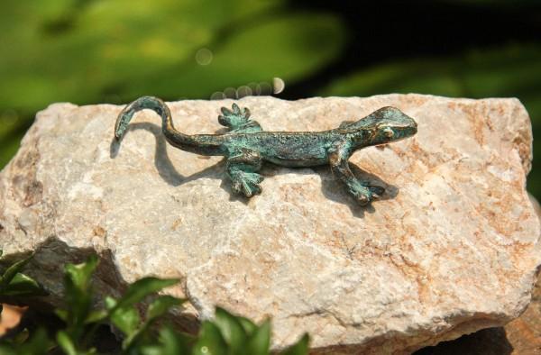 Kleine Eidechse Bronze Skulptur