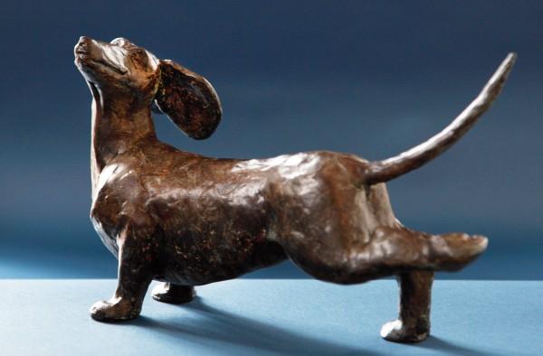 Dackel Skulptur Bronze