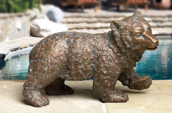 Kleiner laufender Baer Bronze Skulptur