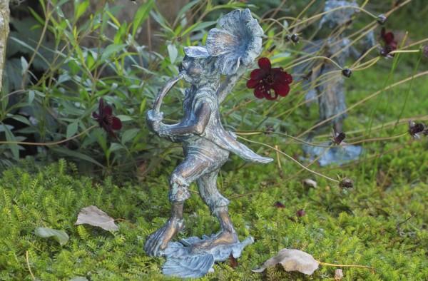 Elf Petunienblaeser Bronze Skulptur