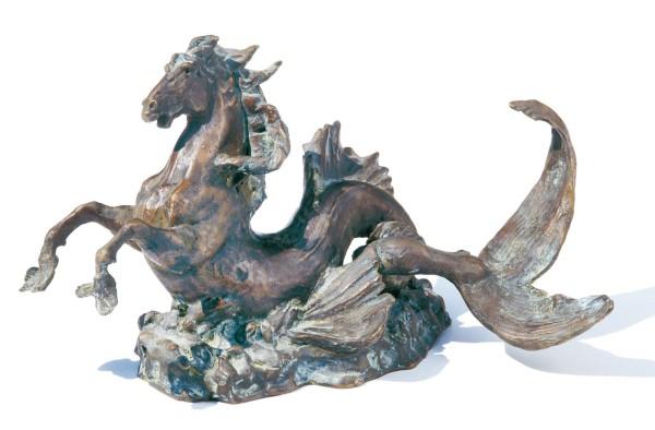 Meerpferd-Museumsreplikat-Bronze-Skulptur