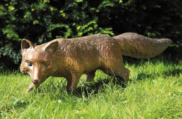 Fuchs Bronze Skulptur