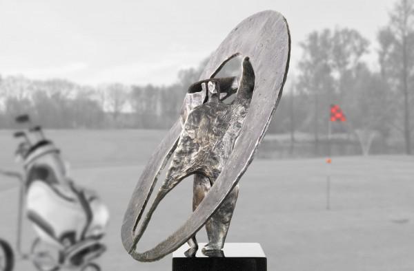 Golfer-Skulptur