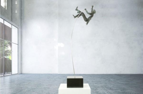 No Limits I Bronze Skulptur E. Waehning