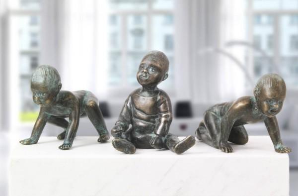 Die Babys , Bronze-Skulpturen.