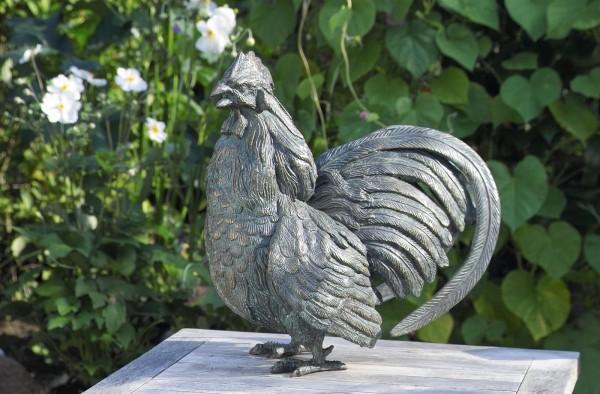 Hahn Bronze Skulptur